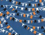 Cabana - Slate Blue Nautical Flags from Benartex