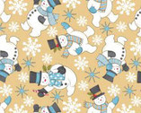 Sweetie Pie Snowmen from Wilmington Prints