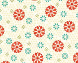 Victory - Cream Flower by Gudrun Erla from Red Rooster Fabrics