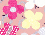 Isso Ecco & Heart - Pink Butterflies - OXFORD Cotton from Lecien Japan