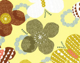 Isso Ecco & Heart 2015 - Yellow Butterflies - OXFORD Cotton from Lecien Japan