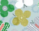 Isso Ecco & Heart 2015 - Aqua Butterflies - OXFORD Cotton from Lecien Japan