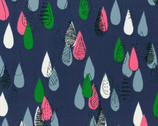 Isso Ecco & Heart 2015 - Blue Raindrops - OXFORD Cotton from Lecien Japan
