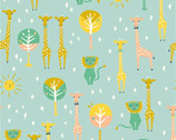 Happy Town - Happy Pals Sky by Emily Isabella from Birch Fabrics