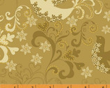Glisten - Gold Doves by Whistler Studios from Windham Fabrics