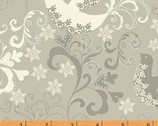 Glisten - Silver Doves by Whistler Studios from Windham Fabrics