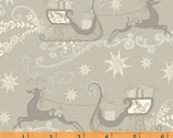Glisten - Silver Reindeers by Whistler Studios from Windham Fabrics