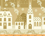 Glisten - Gold Houses by Whistler Studios from Windham Fabrics