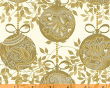 Glisten - Gold Ornaments by Whistler Studios from Windham Fabrics