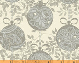 Glisten - Silver Ornaments by Whistler Studios from Windham Fabrics