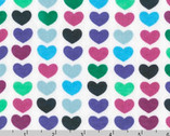 Remix KNIT - Hearts Azure by Ann Kelle - 58 Inch Wide from Robert Kaufman