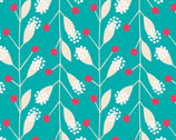 Gypsy Lane - Bali Aqua Sprigs by Jane Farnham from Camelot Fabrics
