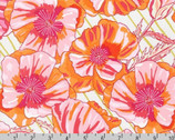 In The Bloom - Blossom Big Poppies Coral by Valori Wells from Robert Kaufman