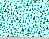 In The Bloom KNIT 58 inches - Turquoise Triangle by Valori Wells from Robert Kaufman