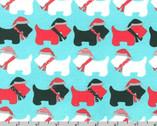 Jingle 3 - Scottie Dogs Aqua by Ann Kelle from Robert Kaufman