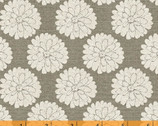 Jardin De Provence - Mums Gray by Daphne Brissonnet from Windham Fabrics