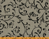 Jardin De Provence - Scroll Gray by Daphne Brissonnet from Windham Fabrics