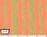 Glitz Bars - Peach Metallic Print Cotton Fabric from Michael Miller