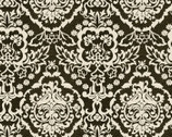 Calavera - Damask Black from David Textiles
