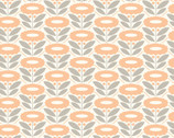 Morning Song - Lazy Daisy Coral by Elizabeth Olwen from Cloud 9 Fabrics