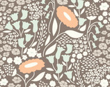 Morning Song - Lush Lullaby Gray by Elizabeth Olwen from Cloud 9 Fabrics