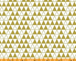 Bold and Gold - Triangle Grid White by Ampersand Design Studio from Windham Fabrics