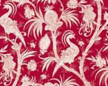 Bombay - Red Crane from Red Rooster Fabrics