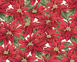 Christmas Traditions - Poinsettias White from Maywood Studio