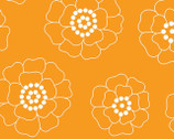 Palm Springs - Orange Mono Florals by Michele D'Amore from Contempo Studio