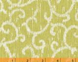 Ibiza - Scroll Celery by Rosemarie Lavin from Windham Fabrics