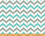 Kinetic - Zig Zag Turquoise by Another Point of View from Windham Fabrics