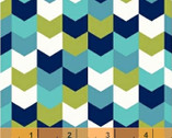 Kinetic - Herringbone Turquoise by Another Point of View from Windham Fabrics