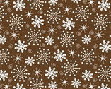 Sweetie Pie Snowmen - Snowflake Brown from Wilmington Prints