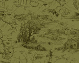 Little Rivers - Green Tonal Toile by Fresh Designs from Henry Glass