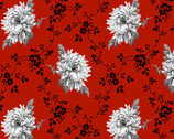 French Laundry - Red Trellis Floral by Fresh Designs from Henry Glass