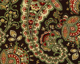 Beatrice - Brown Loss Ross Paisley Floral from Clothworks
