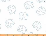 Stella - Ele Elephant Blue Gray by Lotta Jansdotter from Windham Fabrics