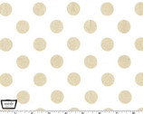 Glitz - Quarter Dot Pearlized White Rose Gold from Michael Miller