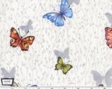Butterfly Garden - Butterflies White from Michael Miller