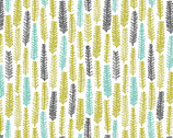 Landscape - Little Forest Citron by Ink & Spindle from Cloud 9 Fabrics