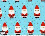 Candy Claus - Santa Claus Aqua from Michael Miller