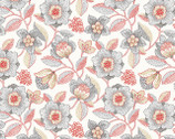 Modern Stitching - White Large Floral from Red Rooster Fabrics