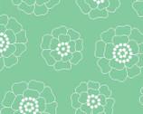 Palm Springs - Aqua Mono Florals by Michele D'Amore from Contempo Studio