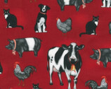 Everyday Favorites - Farm Animals Red by Mary Lake - Thompson from Robert Kaufman