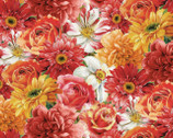 Rainbow Garden - Multi Packed Flowers by Lisa Audit from Wilmington Prints
