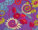 Katherine's Wheel - Purple Floral Nel Whatmore from Free Spirit