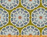 Cascade - Medallion Green Olive by Jessica Levitt from Windham Fabrics