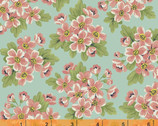 Dover FLANNEL - Aqua Packed Floral Flannel by Rosemarie Lavin from Windham Fabrics