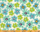 Mariposa - Turquoise Mini Floral from Windham Fabrics