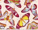 Emma's Garden - Aflutter Butterflies Pink from Michael Miller